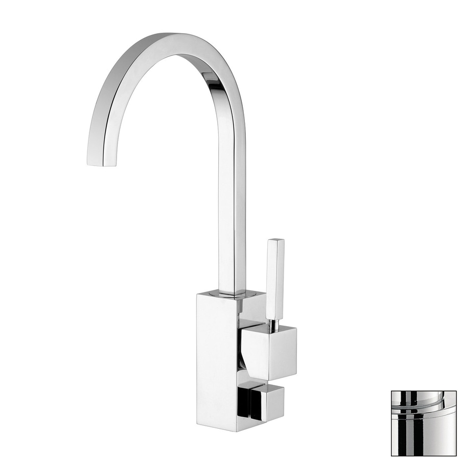 WS Bath Collections Fonte Stainless Steel 1-Handle High-Arc Kitchen Faucet