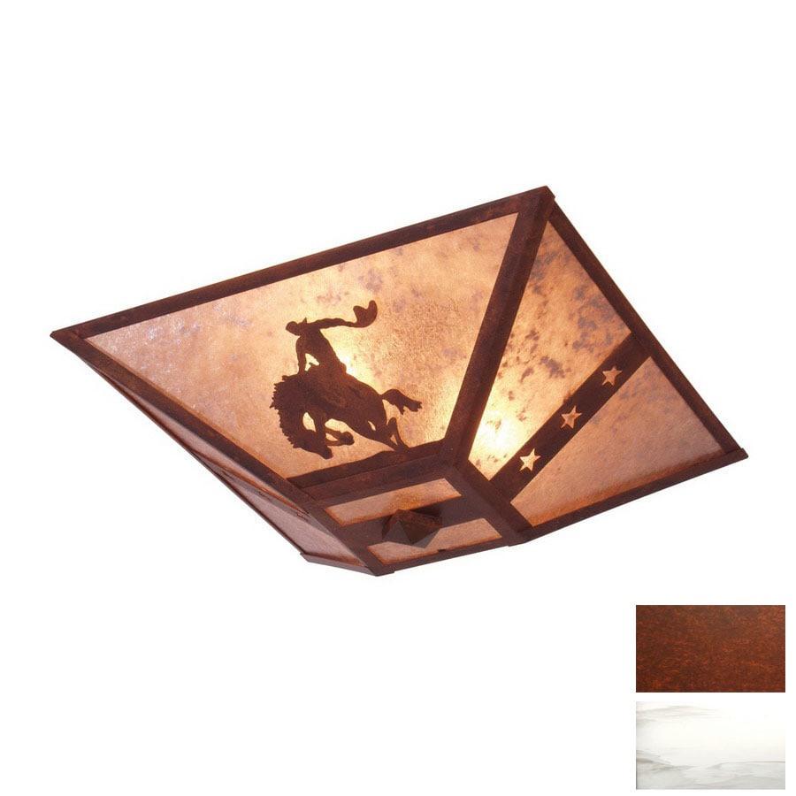 Steel Partners 17-in Rust  Semi-Flush Mount Light