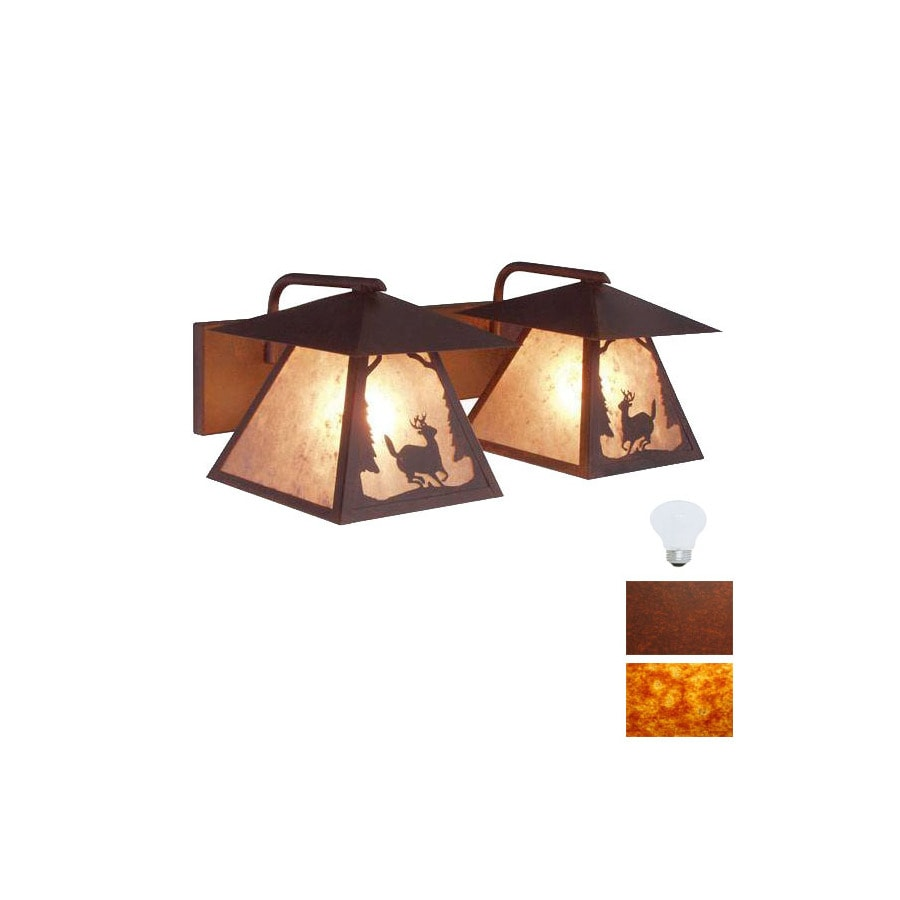 Deer Bathroom Vanity Lights : Shop Steel Partners 3-Light Deer Rust Bathroom Vanity Light at Lowes.com