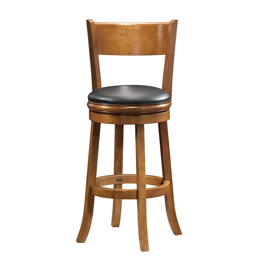 Boraam Industries Palmetto Fruitwood 29-in Bar Stool