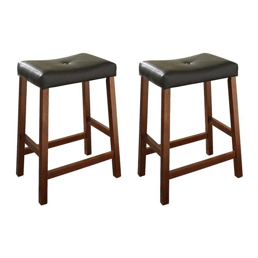 Crosley Furniture Set of 2 Classic Cherry 24-in Counter Stool