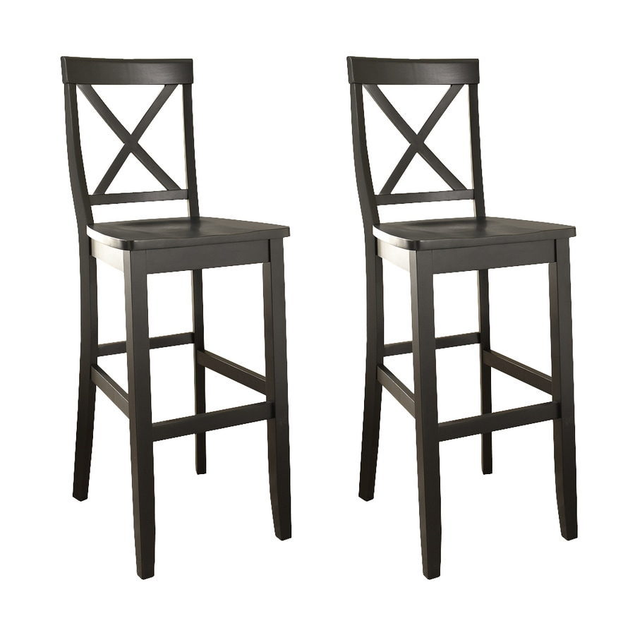 Shop Crosley Furniture Set of 2 Black 30 in Bar Stool at  : 4178065 from www.lowes.com size 900 x 900 jpeg 201kB