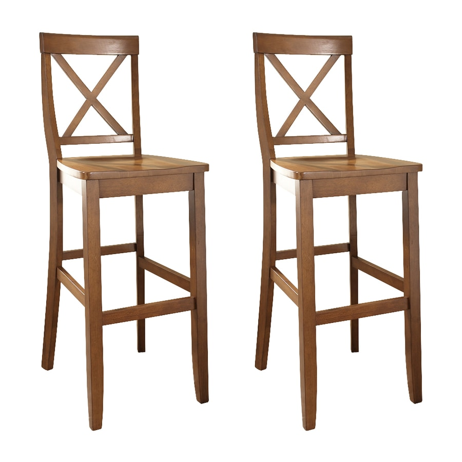 Crosley Furniture Set of 2 Classic Cherry 30-in Bar Stool