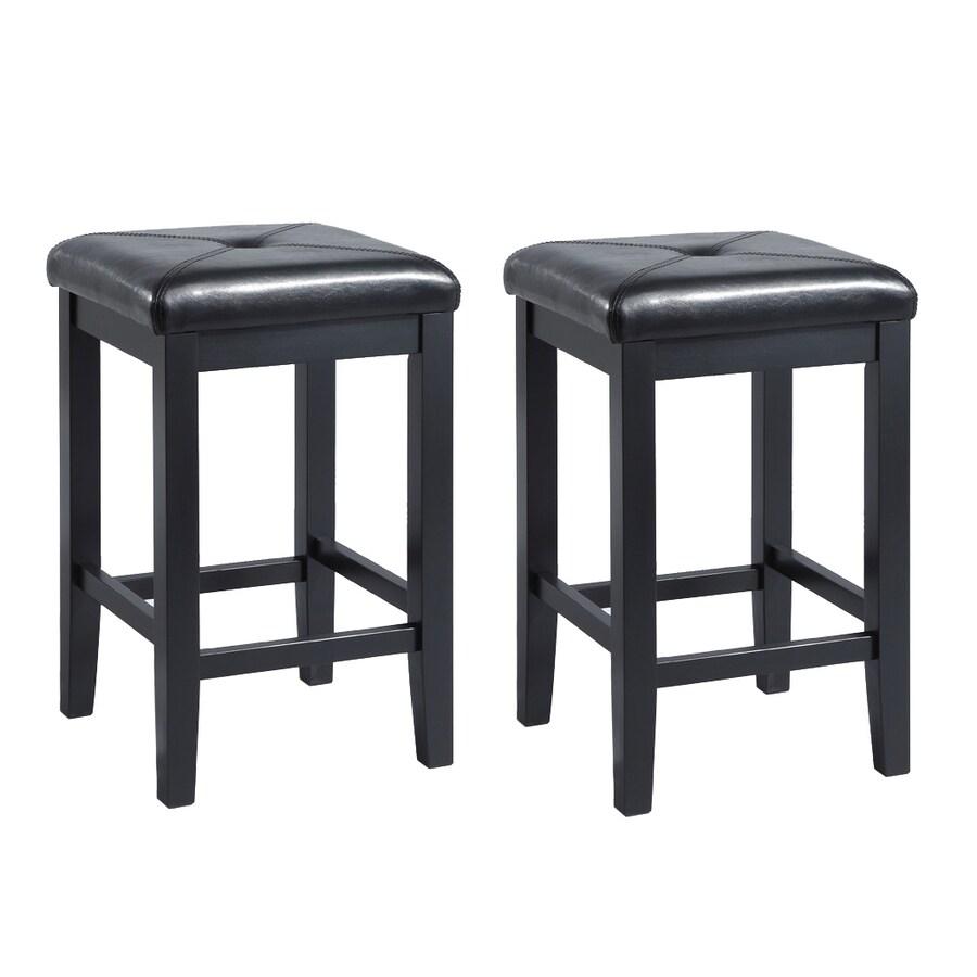 Crosley Furniture Set of 2 Black 24-in Counter Stool