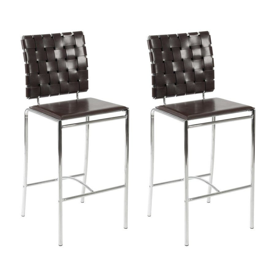 Eurostyle Set of 2 Carina Brown 26-in Counter Stool