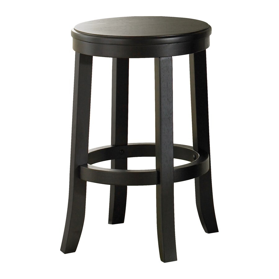 Liberty Furniture Set of 4 Rubbed Black 24-in Counter Stool
