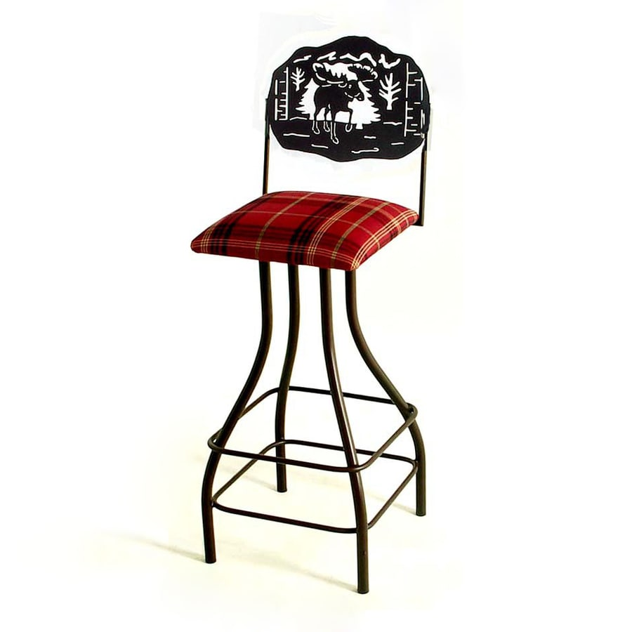 Grace Collection Silhouette Satin Black 30-in Bar Stool