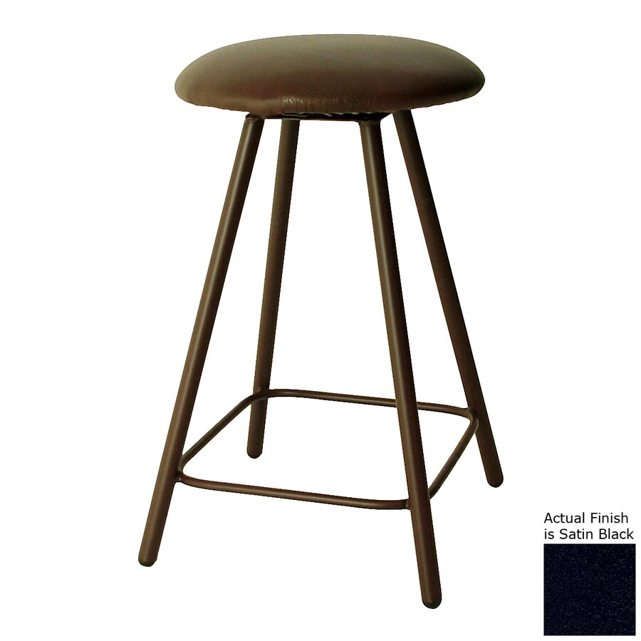 Grace Collection Satin Black 36-in Tall Stool