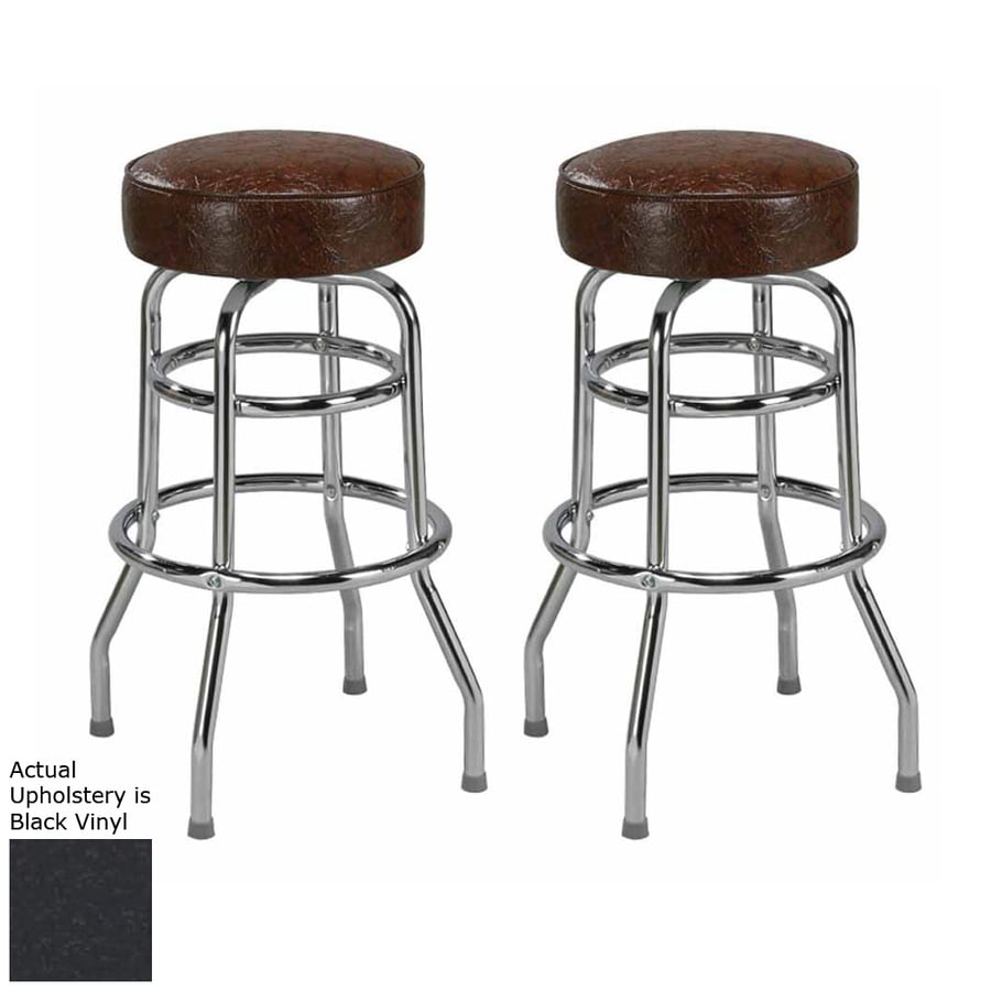 Regal Seating Set of 2 Steel Chrome 30-in Bar Stool