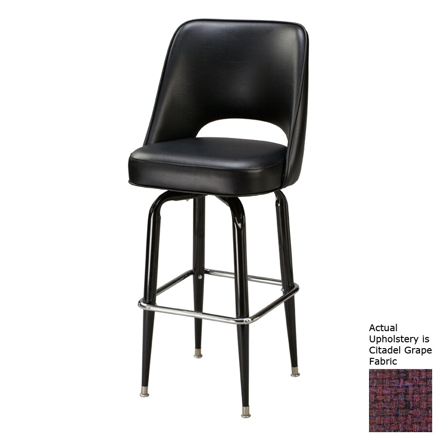 Regal Seating Black 26-in Counter Stool