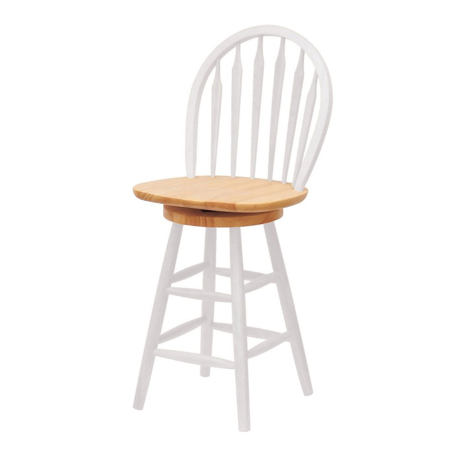 Winsome Wood White/Natural 24-in Counter Stool