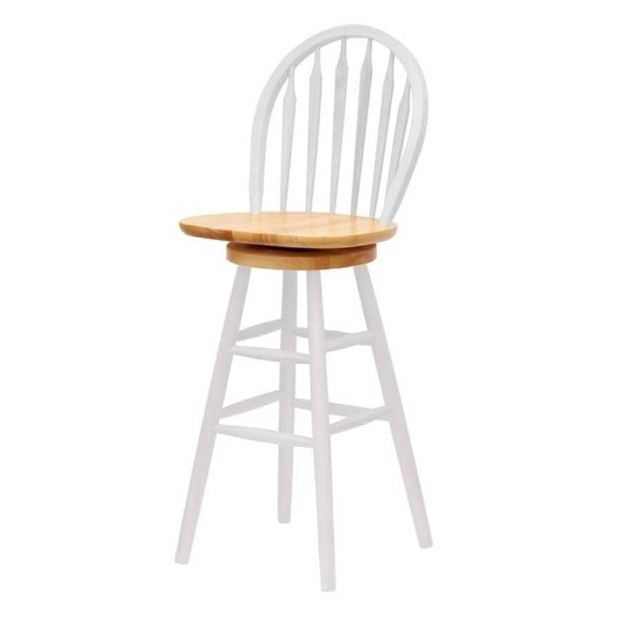 Shop Winsome Wood White/Natural 30-in Bar Stool at Lowes.com