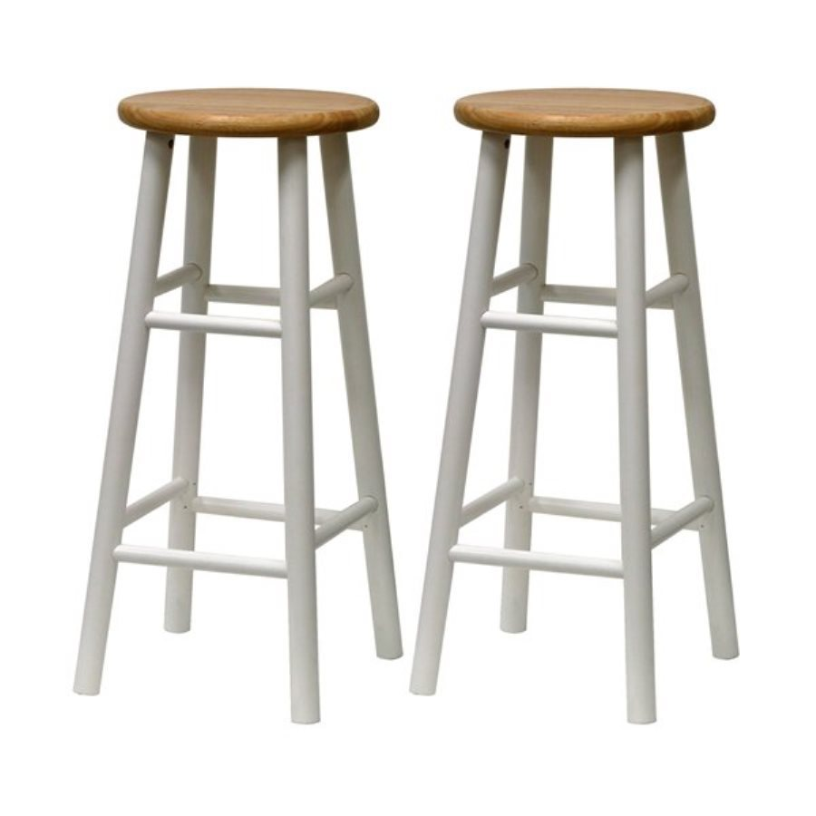 Shop Winsome Wood Set of 2 WhiteNatural 30 in Bar Stools  : 4189415 from www.lowes.com size 900 x 900 jpeg 43kB