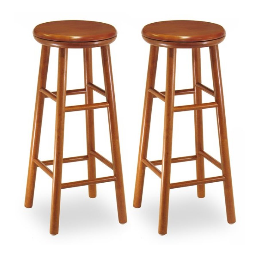 Winsome Wood Set of 2 Cherry 30-in Bar Stools