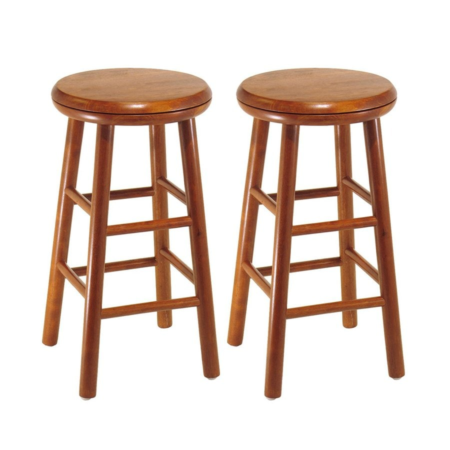 Winsome Wood Set of 2 Cherry 24-in Counter Stools