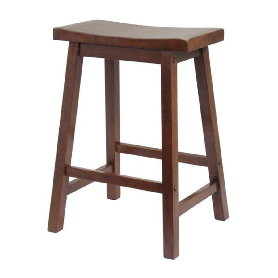 Shop winsome wood antique walnut 24 in counter stool at for 24 bar stools