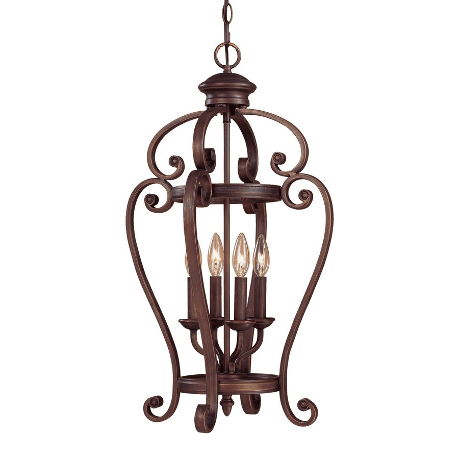 Millennium Lighting Oxford 15-in Rubbed Bronze Vintage Single Cage Pendant