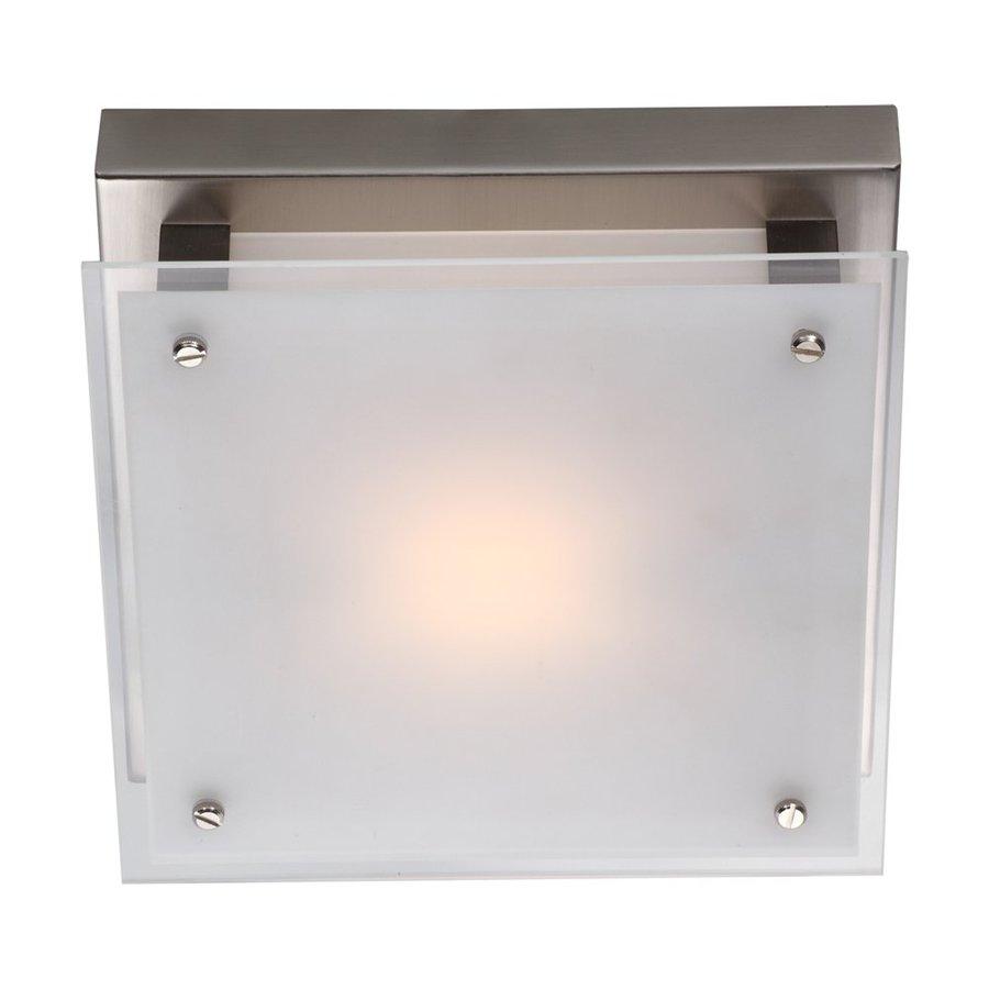 DVI Helios 10-in W Buffed Nickel Ceiling Flush Mount Light
