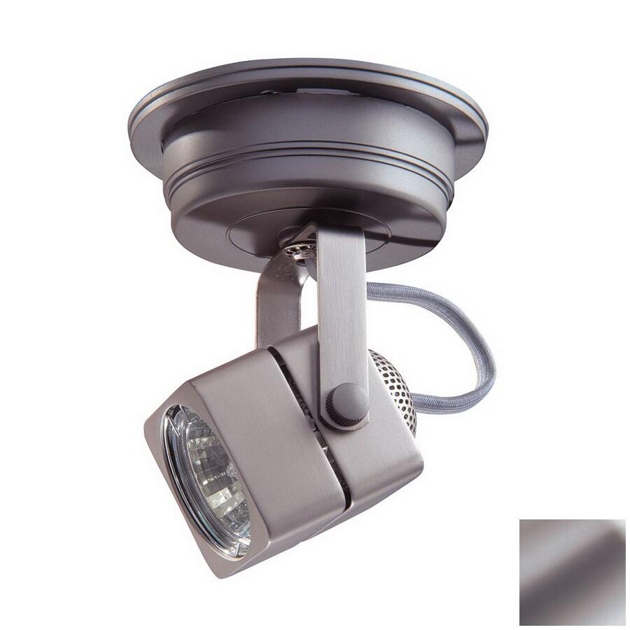 Kendal Lighting Brushed Steel Flush Mount Fixed Track Light Kit
