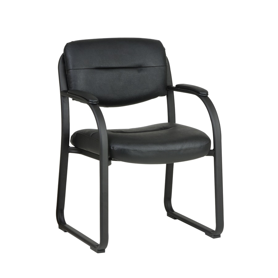 Office Star Worksmart Black Reception Chair