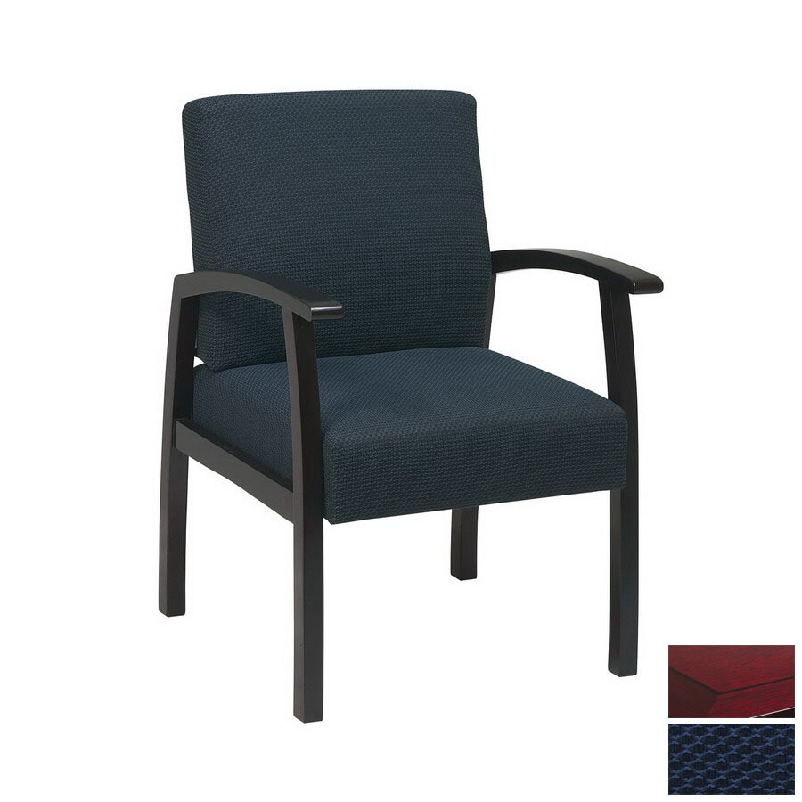 Office Star WorkSmart Mahogany Reception Chair
