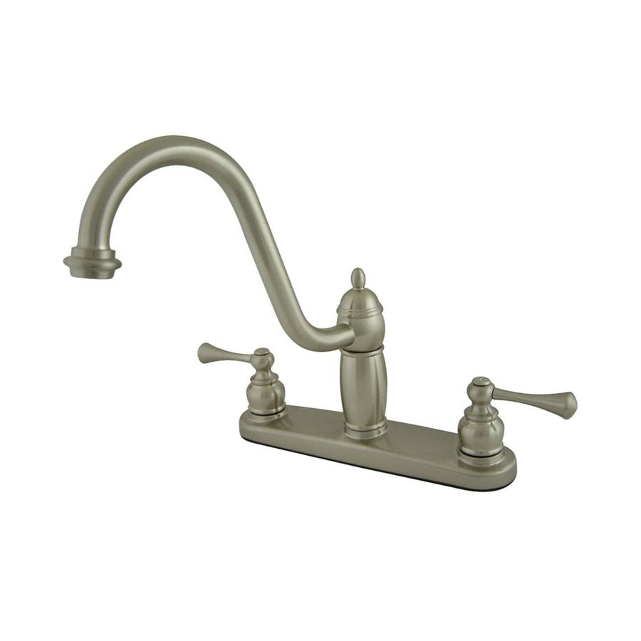 Elements of Design New Orleans Satin Nickel 2-Handle High-Arc Sink/Counter Mount Kitchen Faucet