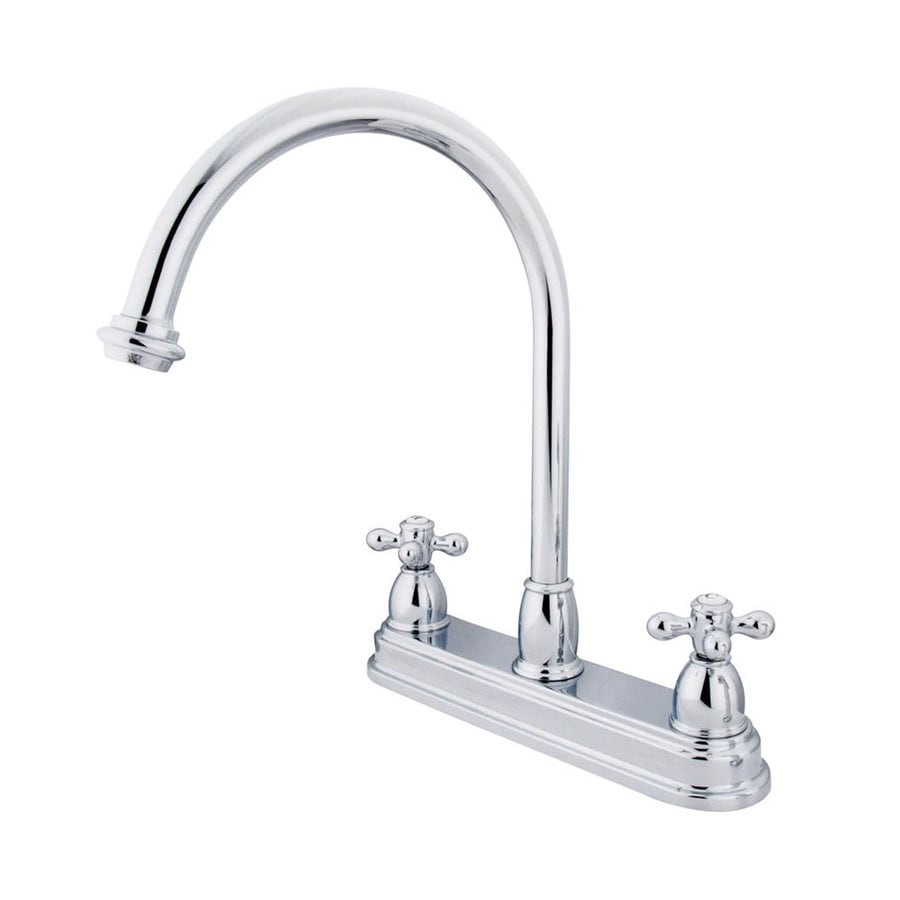 Shop Elements Of Design Chicago Chrome 2 Handle High Arc Sink Counter Mount Kitchen Faucet At