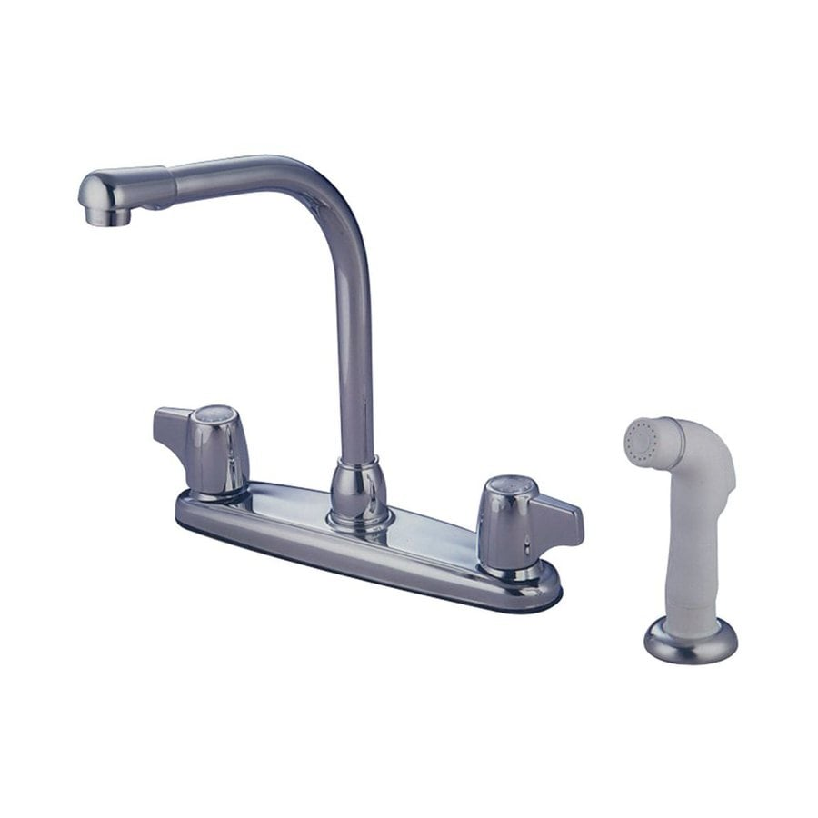 Elements of Design Magellan Chrome 2-Handle High-Arc Kitchen Faucet with Side Spray