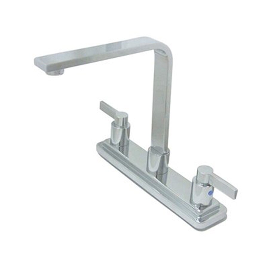 Elements of Design Nuvofusion Polished Chrome 2-Handle High-Arc Sink/Counter Mount Kitchen Faucet