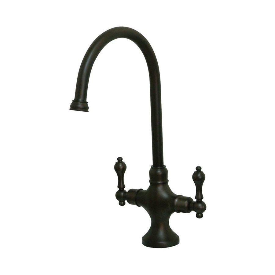 Elements of Design Classic Oil-Rubbed Bronze 2-Handle High-Arc Kitchen Faucet