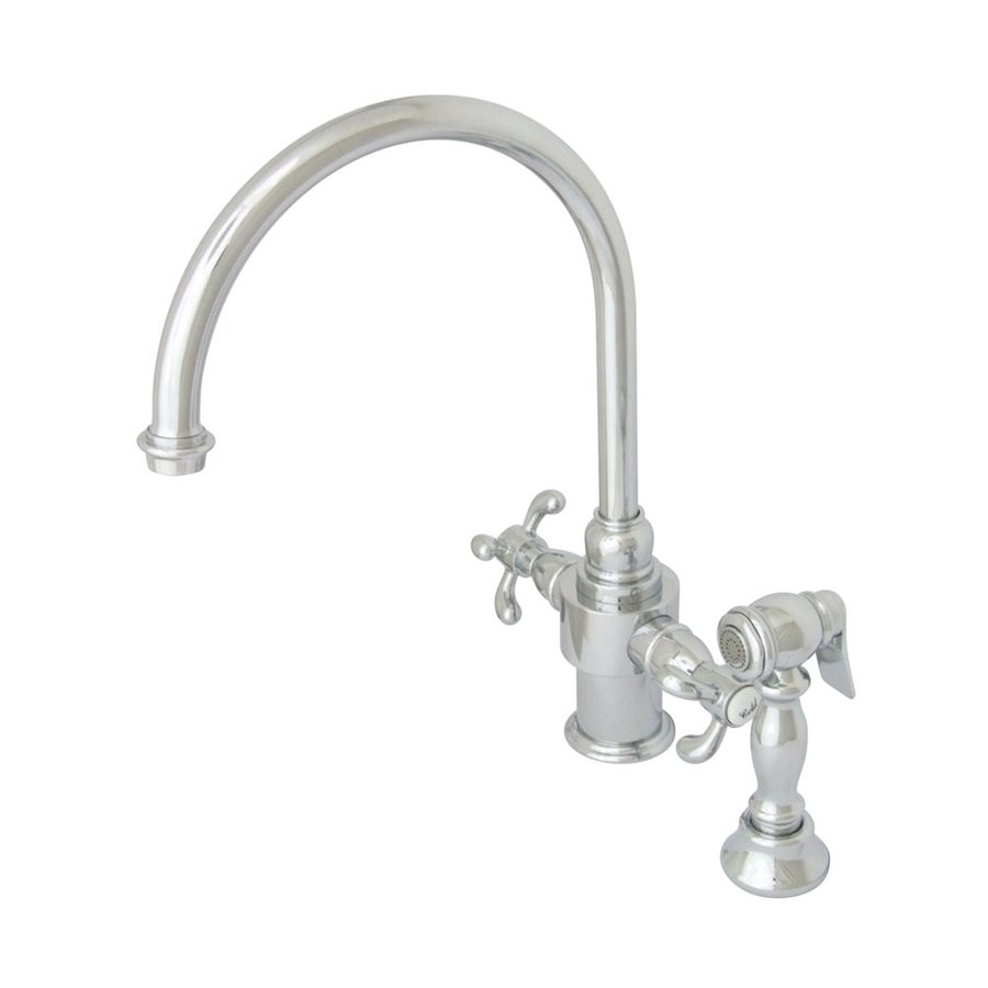 Shop Elements Of Design French Country Chrome 2-Handle High-Arc Kitchen Faucet With Side Spray