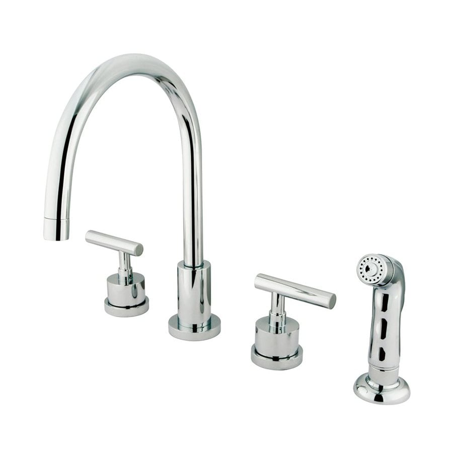 Elements of Design Manhattan Polished Chrome 2-Handle High-Arc Sink/Counter Mount Kitchen Faucet with Side Spray