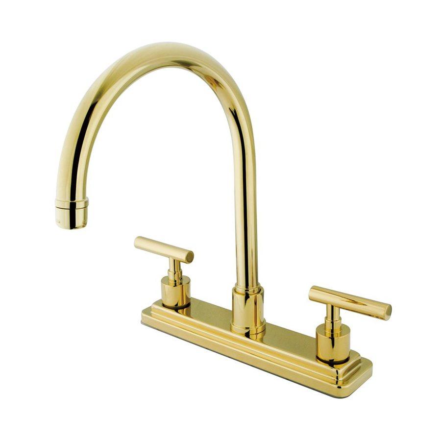 Elements of Design Manhattan Polished Brass 2-Handle High-Arc Kitchen Faucet
