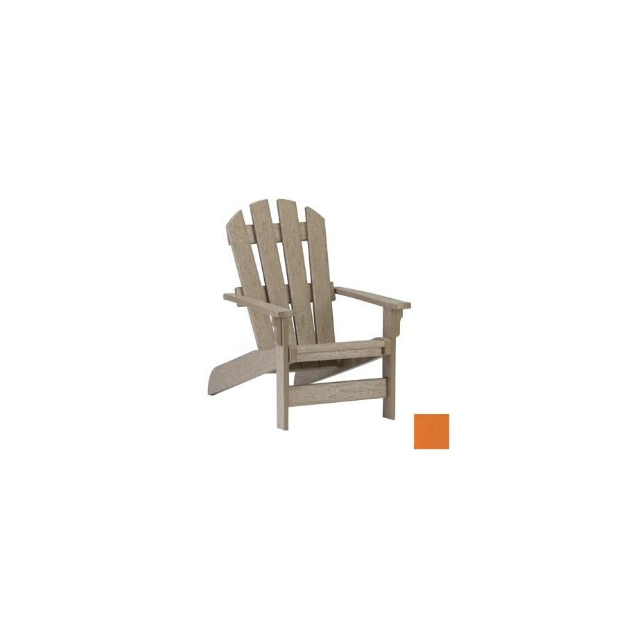 Simply Siesta Orange Peel Plastic Adirondack Chair at Lowes.com