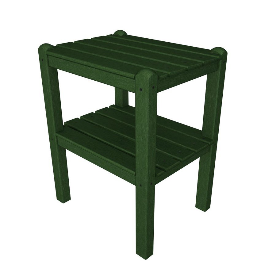 POLYWOOD 14-in W x 18.5-in L Rectangle Plastic End Table