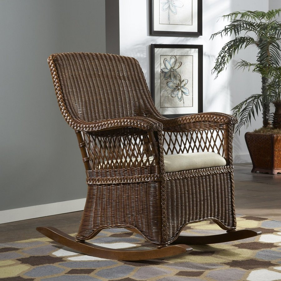 Hospitality Rattan Cozmel Wicker Patio Rocking Chair