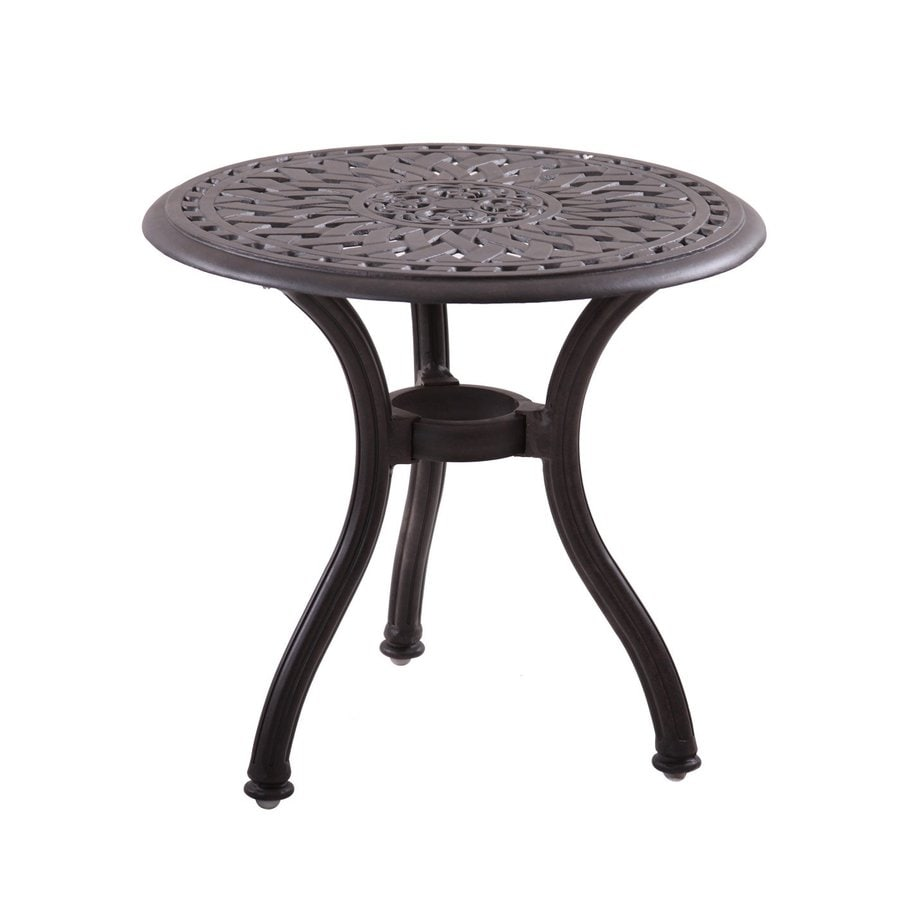 Darlee Series 60 22-in W x 22-in L Round Aluminum End Table