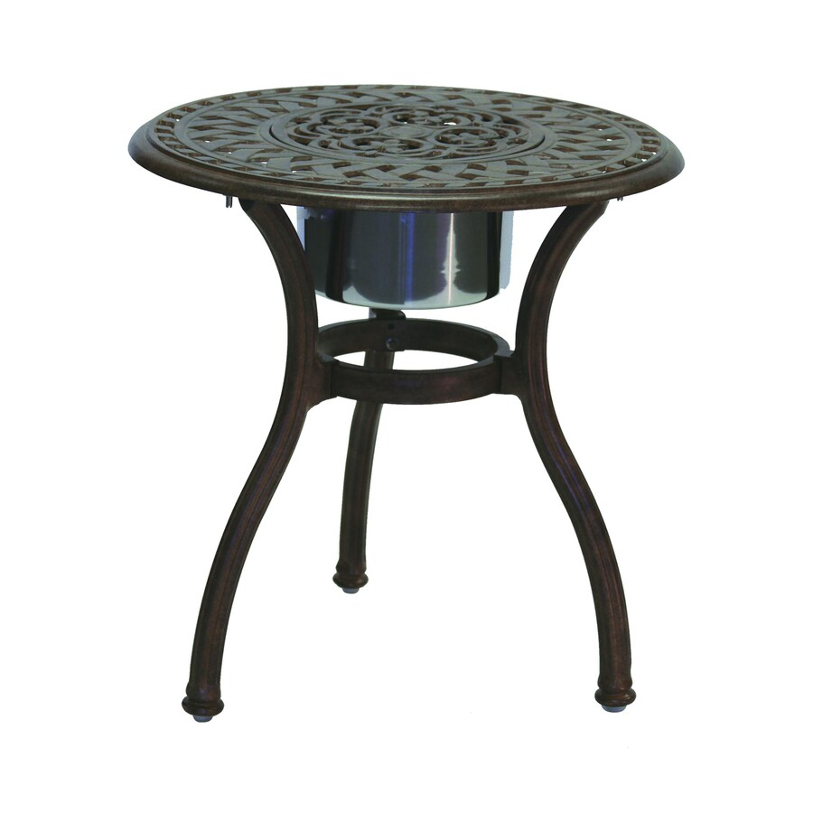 Darlee Series 60 24-in W x 24-in L Round Aluminum End Table
