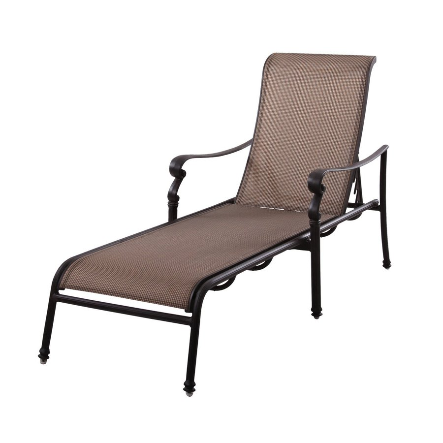 Shop darlee monterey antique bronze aluminum patio chaise for Chaise lounge antique furniture