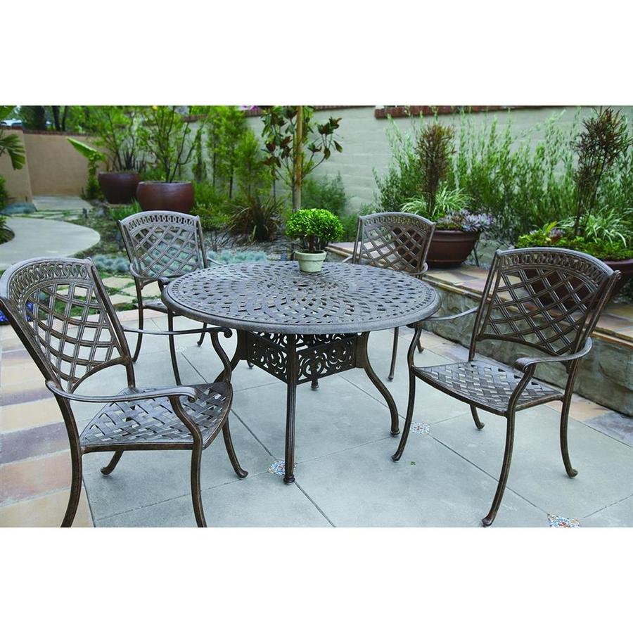 Outdoor Patio Furniture Aluminum Frame: Shop Darlee Sedona 5-Piece Mocha Aluminum Dining Patio