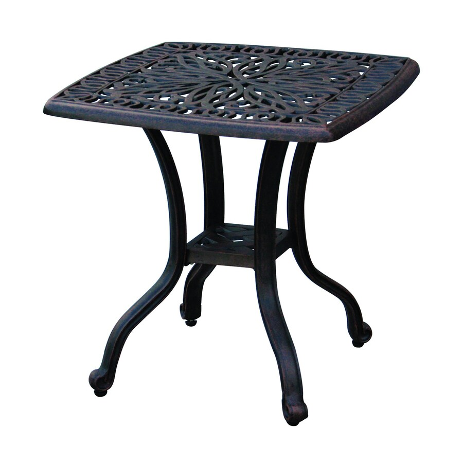 Darlee Elisabeth 21-in W x 21-in L Square Aluminum End Table