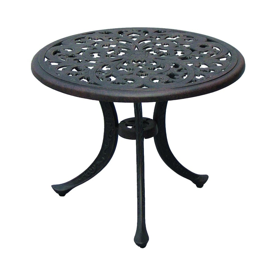 Darlee Series 80 21-in W x 21-in L Round Aluminum End Table