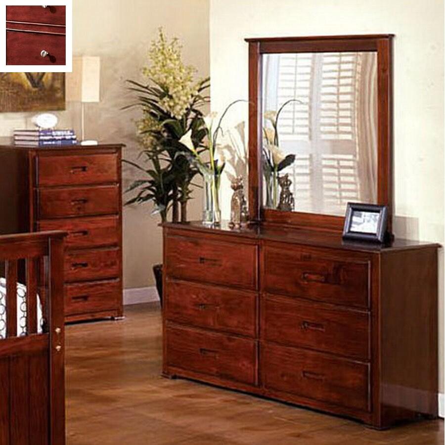 Furniture of America Montana Oak 6-Drawer Dresser