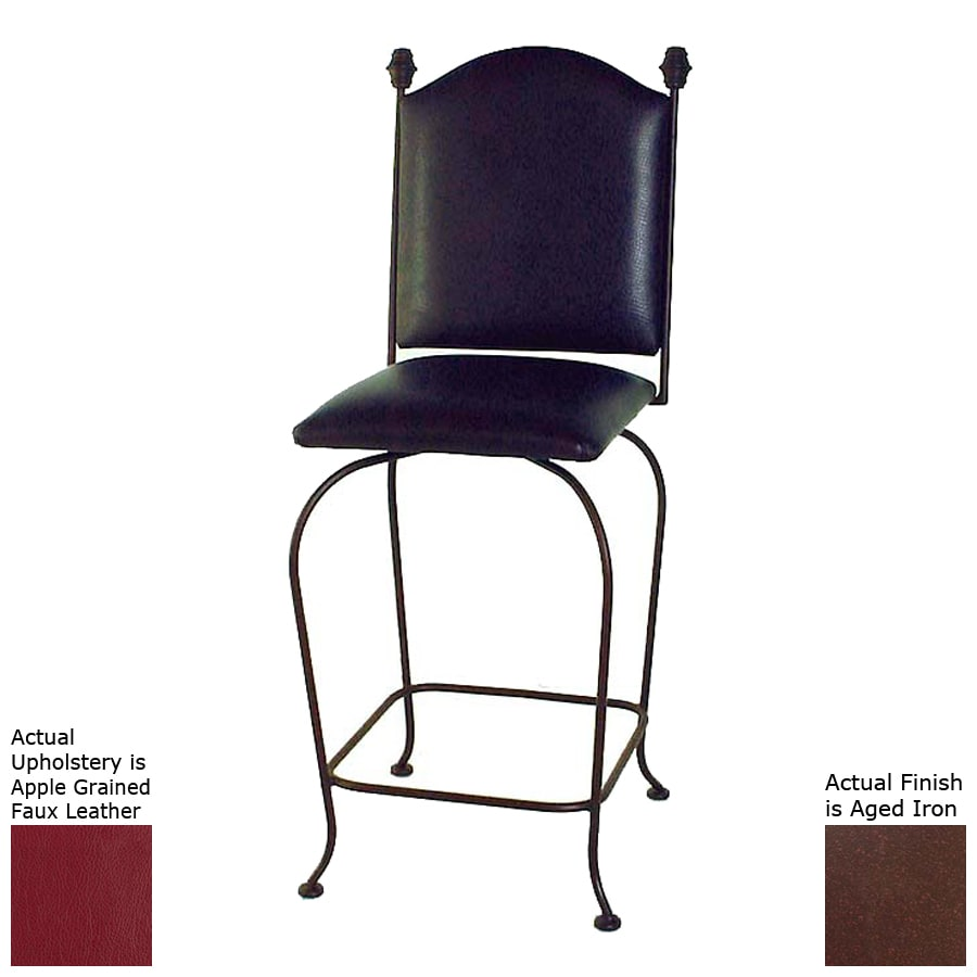 Grace Collection Aged Iron 24-in Counter Stool