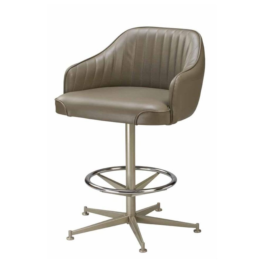 Regal Seating Steel Anodized Nickel 26-in Counter Stool