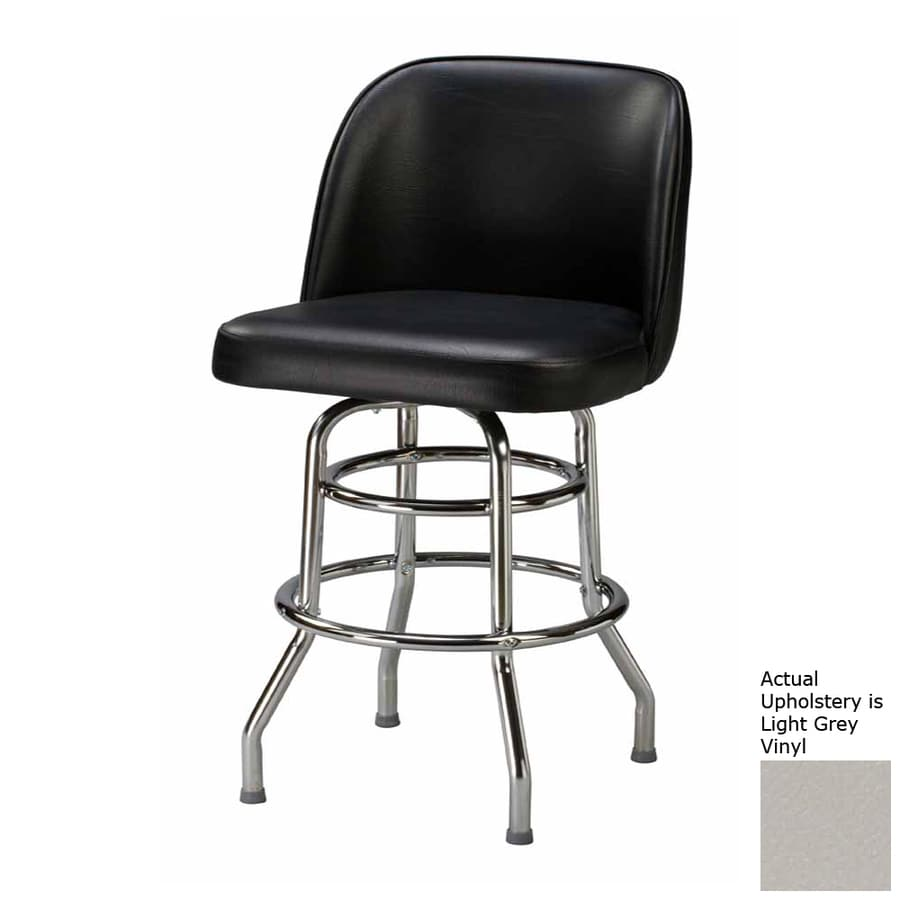 Regal Seating Steel Chrome 26-in Counter Stool