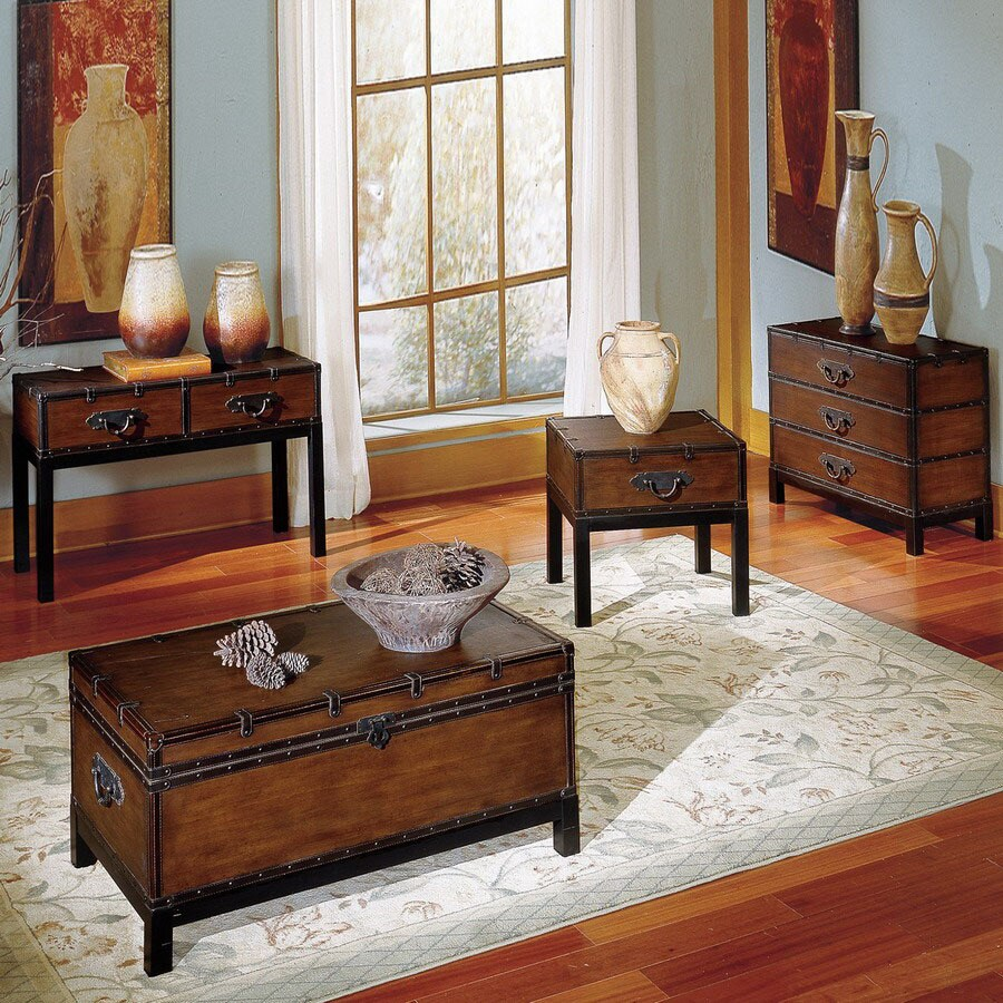 Steve Silver Company Voyage Brown Accent Table Set