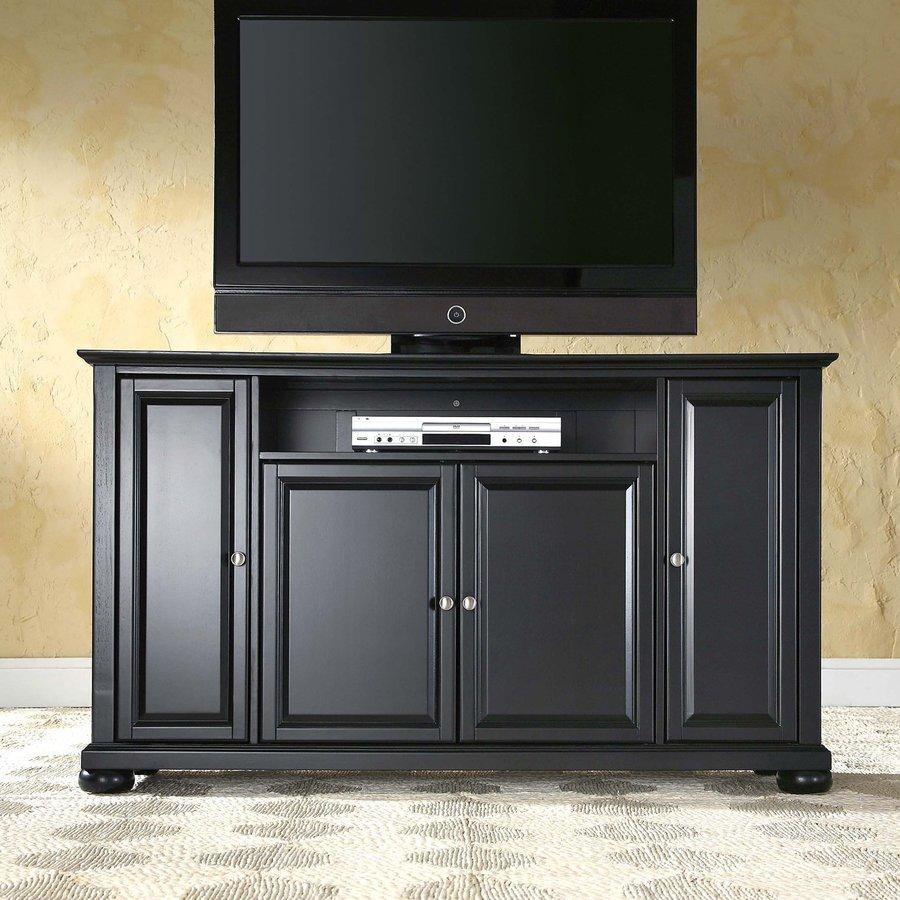 Crosley Furniture Alexandria Black Rectangular Television Cabinet