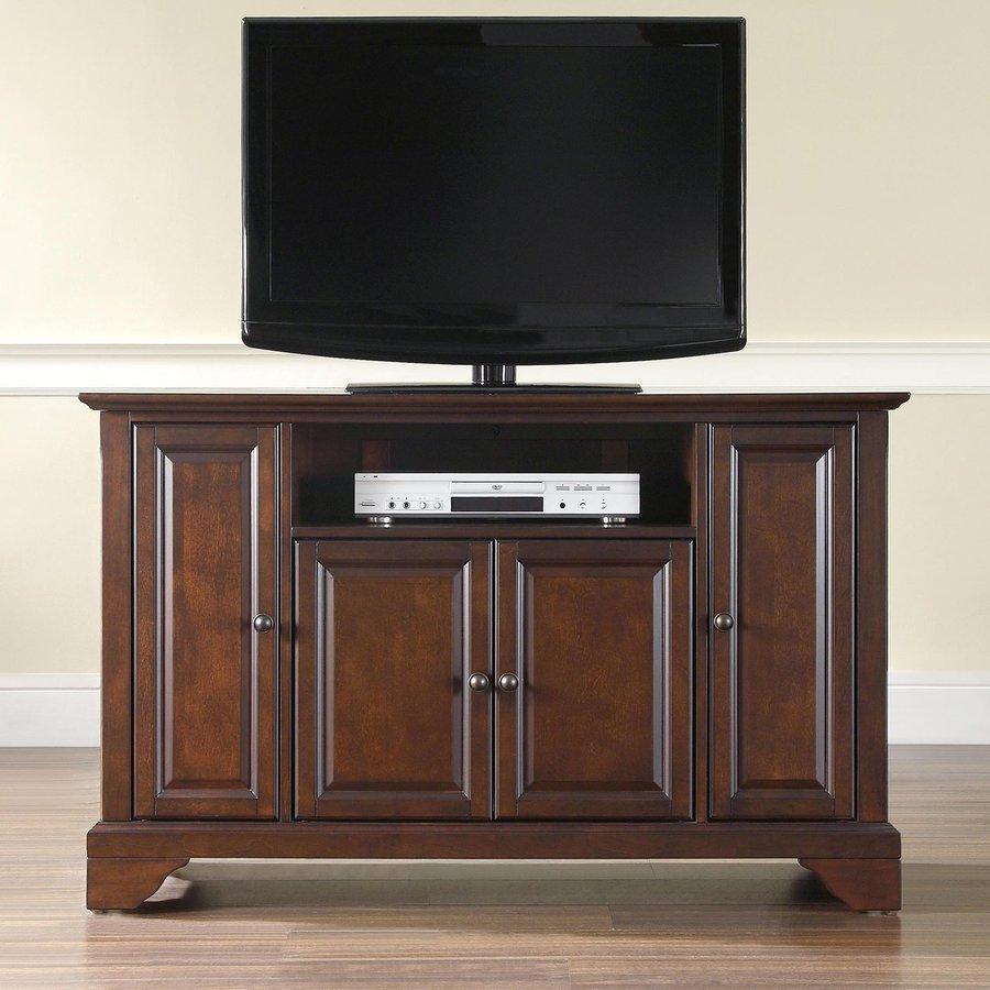 Crosley Furniture Lafayette Vintage Mahogany Rectangular Television Cabinet