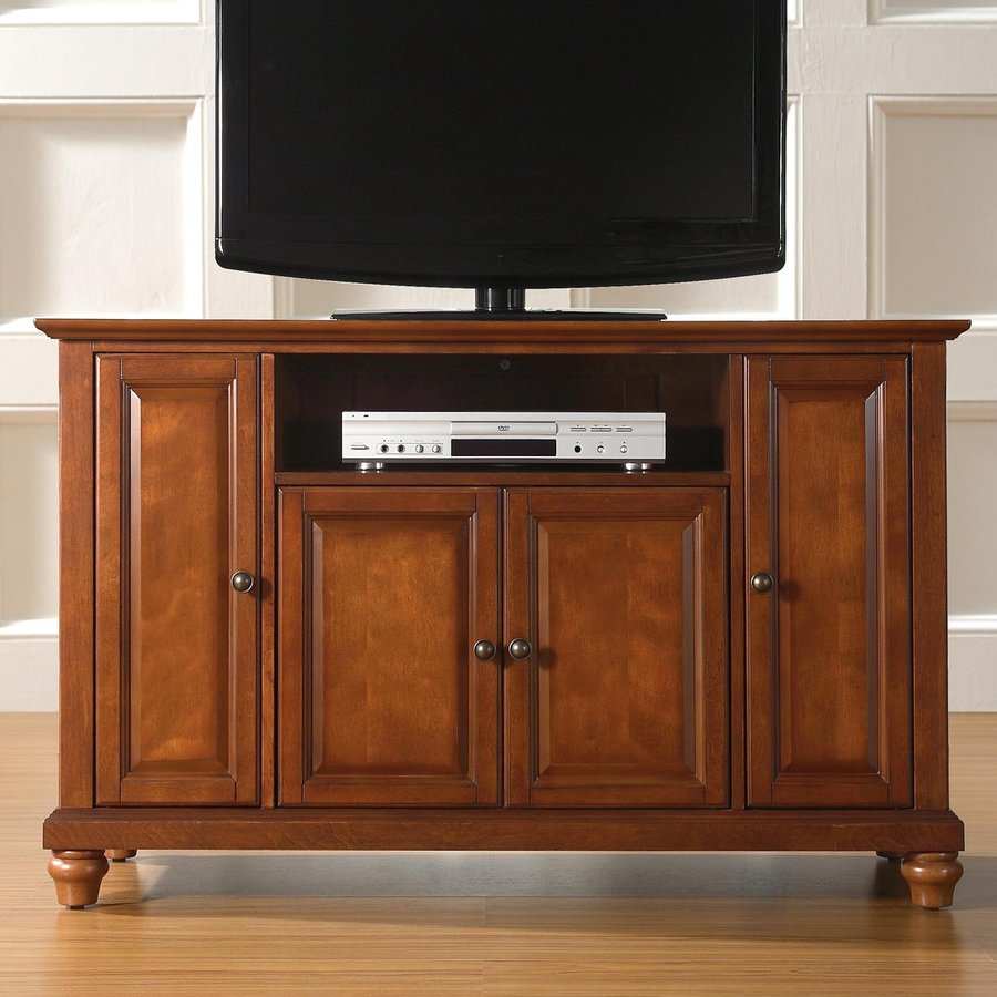 Crosley Furniture Cambridge Classic Cherry Rectangular Television Cabinet